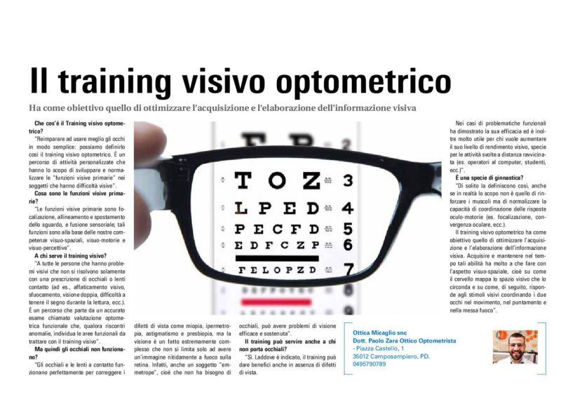 Il Training Visivo Optometrico